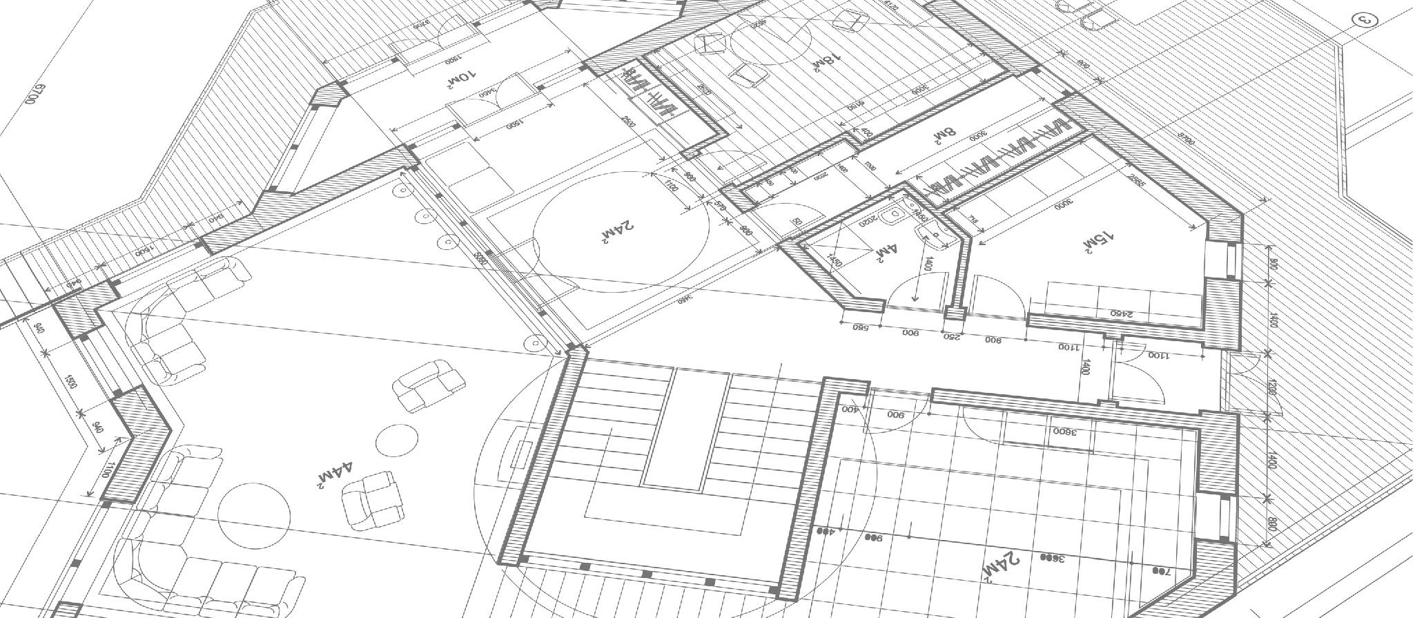 Bauzeichnung Architektur 2050x895